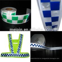 Ropa de seguridad Cinta adhesiva de PVC cinta reflectante 3 filas