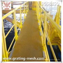 Rejilla moldeada de FRP / GRP / fibra de vidrio para la plataforma