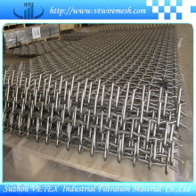 Zweiwege getrennte Twist Crimped Wire Mesh