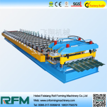 Hydraulic glazed tile rolling making machine