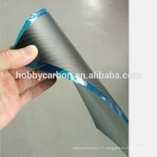 En gros chine CNC découpe des plaques de carbone FPV 0.5x400x500mm brillant / twill verre en fibre de carbone maille / feuille