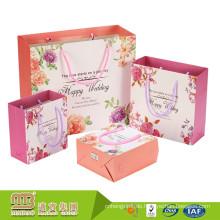 Alibaba Großhandel Phantasie Design Glossy Laminiert Personalisierte Papier Geschenktüten für Hochzeit