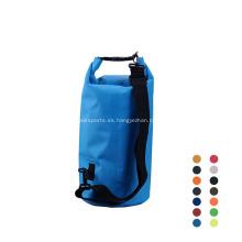 Deportes al aire libre 500D PVC Durable 10L Impermeable Transparente Bolsa seca
