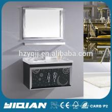 Meuble de salle de bain en cuvette en acier inoxydable Vanity miroir