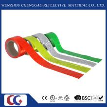 Ruban réfléchissant de couleur simple de PVC avec le treillis en cristal