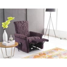 Sofá reclinável elétrico do sofá da chaise de couro genuíno (778)