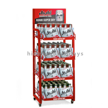 Metall-Bodenbelag Red Makers Mark Whisky Bottle Stand Display, Werbung Multilayer Bier Wein Stand