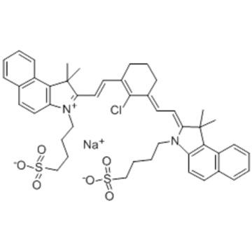 1H-Benz[e]indolium,2-[2-[2-chloro-3-[2-[1,3-dihydro-1,1-dimethyl-3-(4-sulfobutyl)-2H-benz[e]indol-2-ylidene]ethylidene]-1-cyclohexen-1-yl]ethenyl]-1,1-dimethyl-3-(4-sulfobutyl)-,inner salt, sodium salt CAS 172616-80-7