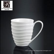 Hotel Ozean Linie Mode Eleganz weiß Porzellan Tasse PT-T0601
