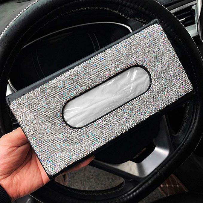 Pu Leather Hanging Sun Visor Car Tissue Box5 Jpg
