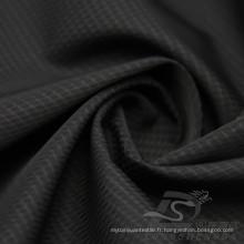 Veste à manches résistant à l'eau et au vent en flan Tissu tissé en toile tressée Jacquard 100% en polyester Tissu en fil d'île de la mer (X044)