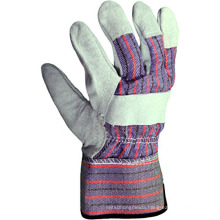 AB Quality Cow Split Leather Gardening Gloves With Reinforced Palm