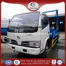 DFAC mini camión de basura hidráulico, capacidad 4cbm