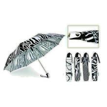 Black & White 3 Falten Automatik Windproof Regenschirm (YS-3FA22083909R)