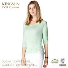 ЯШ-16008 V шеи тонкий узор причудливый Кашемировый свитер женщин дизайн