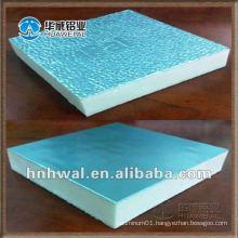 Orange peel aluminum foil for PU insulation panels