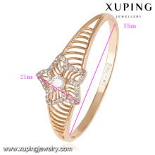 50817 nuevos brazaletes indios plateados oro al por mayor del diseño de Xuping