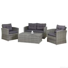 Mobília de vime do pátio do Rattan Lounge sofá moda jardim ao ar livre