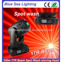 17r 350W feixe spot lavagem 3in1 movendo a luz principal do estágio