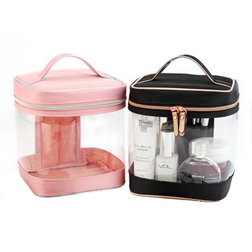 Custom Transparent Clear PVC Kosmetisk Makeup Bag