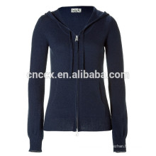 15STC6808 kangaroo pocket sweater cashmere hoodie for women