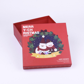 Khuyến mãi Luxury Red Square Christmas Gift Paper Box