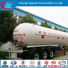 Good Price Asme Standard Tri-Axle LPG Tank Semi-Trailer 59.6 Cbm