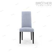 Rembourrés coloré tissu français velours jambes en bois banquet hall chaise en bois