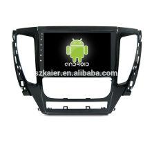 Quatro núcleos! Android 6.0 carro dvd para mitsubishi l200 com 9 polegada tela capacitiva / gps / espelho link / dvr / tpms / obd2 / wifi / 4g