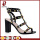 Patent leather block heel girl rivet sandals