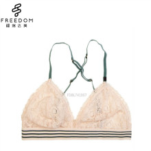 Sexy and cute convertible backcrossed strap lace triangle underwear bralette