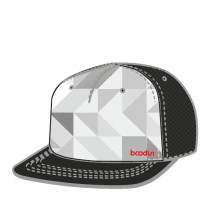 Custom Fitted Flat Hats with 3D Embroidery (CA14081)