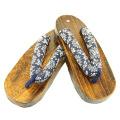 semelle en bois de pied en bois japon