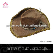crochet cowboy straw hard hat