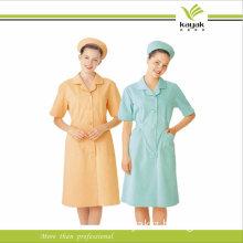 Short Sleeve Cotton Hospital Work Uniform for Nurse (KW-001)