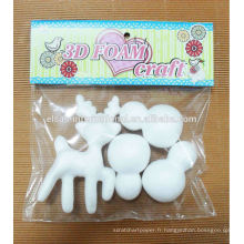 Fournitures de fête artisanat décoratif Waterproof Styrofoam Christmas Deer / Snowman Kit