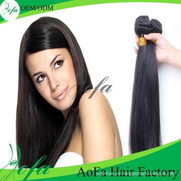 Venta al por mayor 7A / 8A grado visón pelo virginal Remy trama del cabello humano