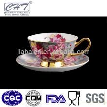 Fine Bone China einzigartigen Design Kaffee Tee Tasse und Untertasse