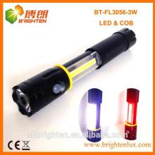 Venta caliente magnética extendiendo 3W 250LM COB LED FLASHLIGHT 4XAAA Tipo de batería Antorcha
