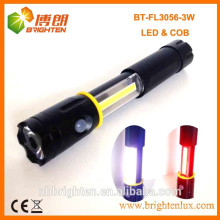 Hot selling Magnetic extending 3W 250LM COB LED FLASHLIGHT 4XAAA Battery Type Torch