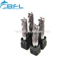 BFL 2 bits de coupe de forces de défense principale de carbure de commande numérique par ordinateur 2 peu de fraise en bout de cannelure droite pour des forces de défense principale