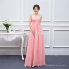 Long Bridesmaid Dresses Coral Chiffon Sweetheart Cheap Brides Maid Dress Real Photo