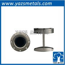 botão de punho de metal personalizado, abotoaduras personalizadas de aço inoxidável e abotoaduras pretas