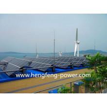 générateur de turbine de vent de 10 kW avec système de panneaux solaires