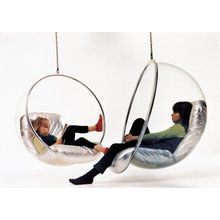 Chaise acrylique bulle et Swing chaise accrochante