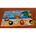 Recyclable Non Toxic Easy Carrying PP Woven Camping Beach Mat