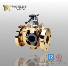 Válvula de bola con bridas de bronce de aluminio