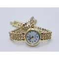 silver gold metal watch for lady