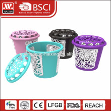 2015 novo design elegante cesta de lavanderia plástica