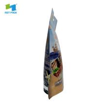 Matériau d'emballage pour pochette à fermeture à glissière kraft de 4 oz